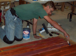 varnishing baseboards