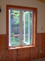 a finished window