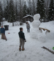 The first snowman