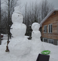 Snowman and snowlady