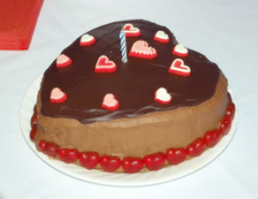 chocolate valentines cake