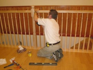 installing the railing