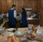 They worked in the kitchen together too!